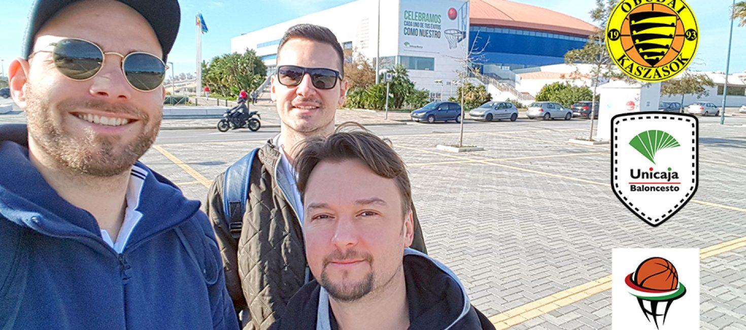 Az Unicaja Málagánál jártak kollégáink